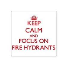 Keep Calm and focus on Fire Hydrants Sticker