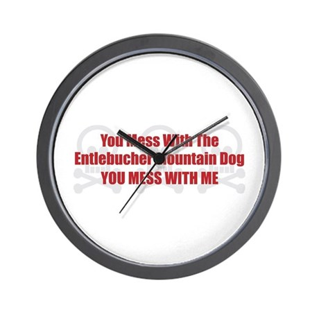 Mess With Entlebucher Wall Clock