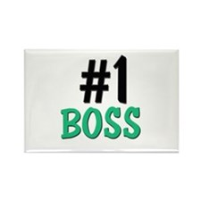 Number 1 BOSS Rectangle Magnet