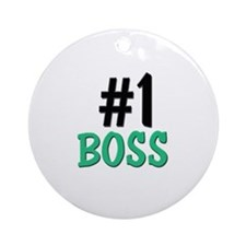 Number 1 BOSS Ornament (Round)