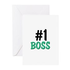 Number 1 BOSS Greeting Cards (Pk of 10)