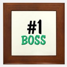 Number 1 BOSS Framed Tile