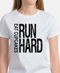Run Hard Eat Cupcakes Tee