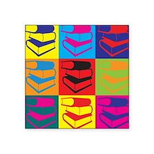 """Cute Librarian humor Square Sticker 3"""" x 3"""""""