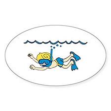 Snorkeler Underwater Decal