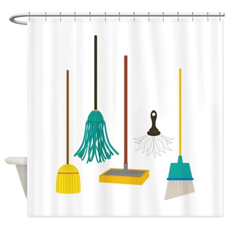 Cleaning Tools Shower Curtain by CONCORD23