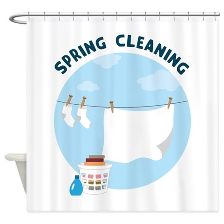 Spring cleaning Shower Curtain by CONCORD23