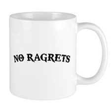 No Ragrets Mispelled Regrets Tattoo Mugs
