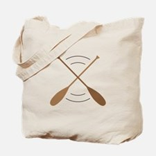 Crossed Canoe Paddles Tote Bag