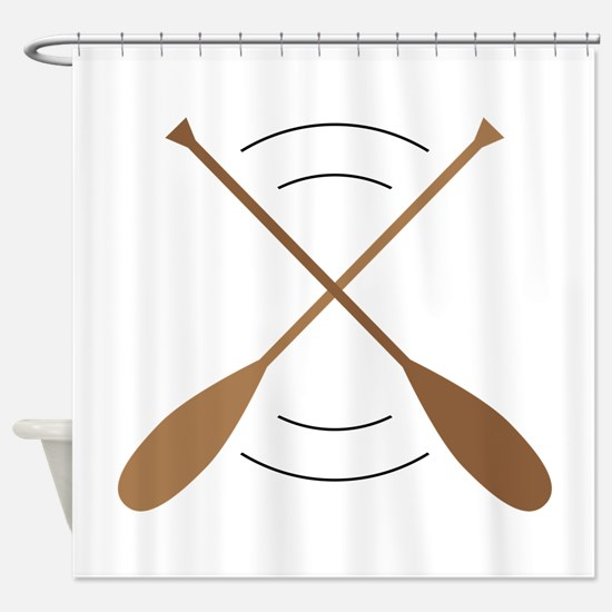Crossed Canoe Paddles Shower Curtain