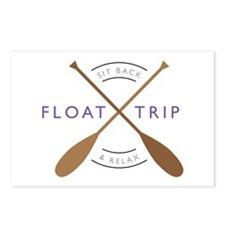 Sit back & relax float trip Postcards (Package of