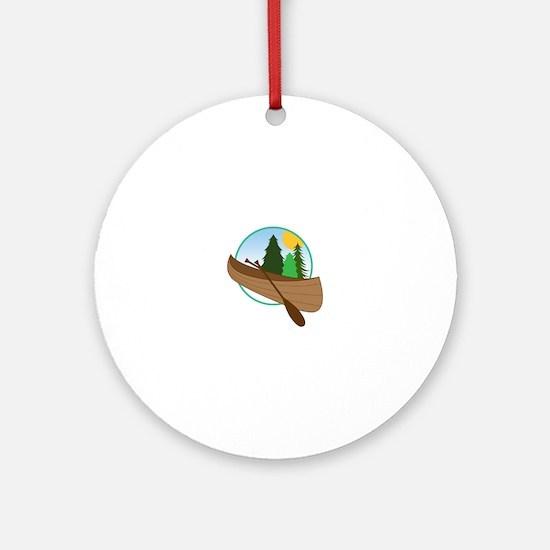 Canoe Logo Ornament (Round)