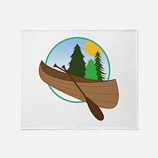 Canoe Logo Throw Blanket