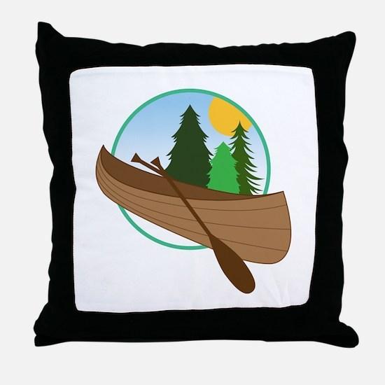 Canoe Logo Throw Pillow