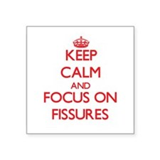 Keep Calm and focus on Fissures Sticker
