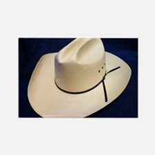 Straw Stetson Rectangle Magnet