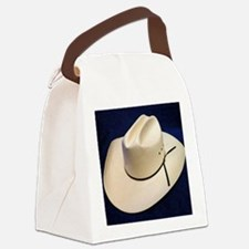Straw Stetson Canvas Lunch Bag