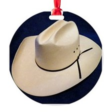 Straw Stetson Ornament