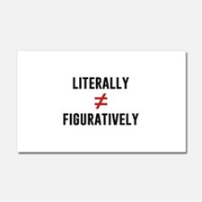Literally Does Not Equal Figuratively Car Magnet 2