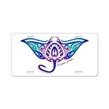 Unique Snorkeling Aluminum License Plate