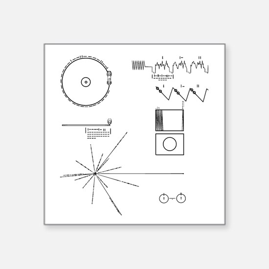 NASA Voyager Golden Record Sticker