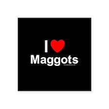 "Maggots Square Sticker 3"" x 3"""