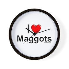 Maggots Wall Clock