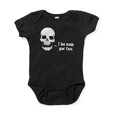 A Skull Lives Inside Your Face Baby Bodysuit