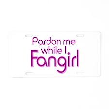 Pardon Me Aluminum License Plate