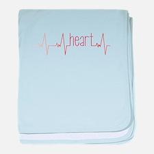 Heart Beat baby blanket