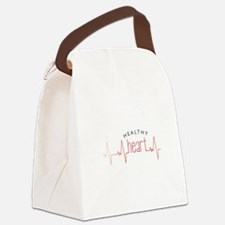 Healthy Heart Canvas Lunch Bag