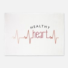 Healthy Heart 5'x7'Area Rug