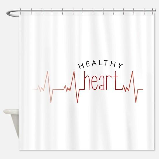 Healthy Heart Shower Curtain