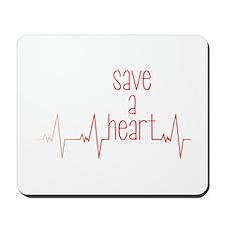 Save a Heart Mousepad
