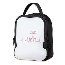 Save a Heart Neoprene Lunch Bag