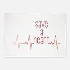 Save a Heart 5'x7'Area Rug