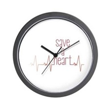 Save a Heart Wall Clock