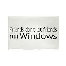 Friends Windows Rectangle Magnet