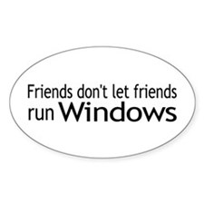 Friends Windows Oval Decal