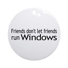 Friends Windows Ornament (Round)