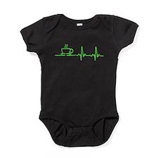 Morning Coffee Heartbeat EKG Baby Bodysuit