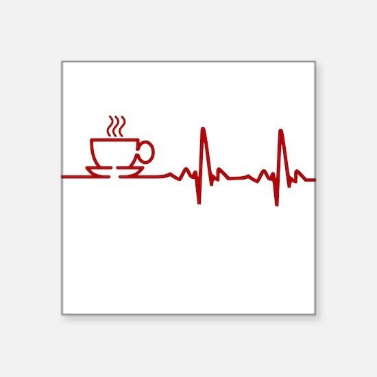 Morning Coffee Heartbeat EKG Sticker