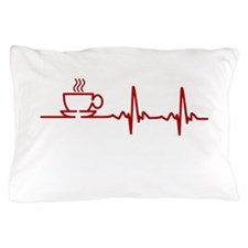 Morning Coffee Heartbeat EKG Pillow Case