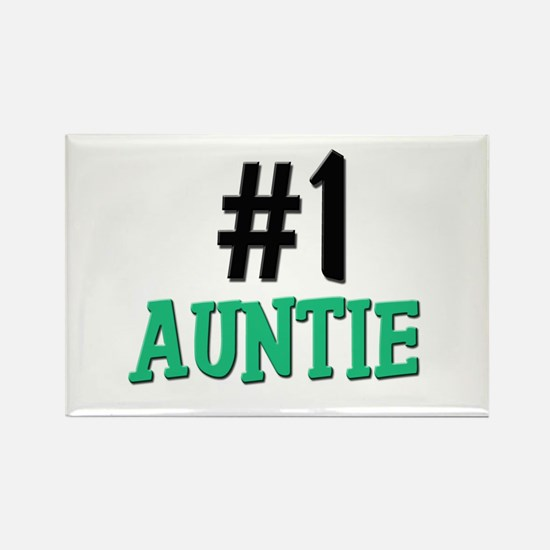 Number 1 AUNTIE Rectangle Magnet