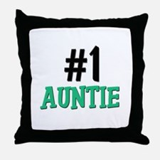 Number 1 AUNTIE Throw Pillow