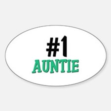 Number 1 AUNTIE Oval Decal