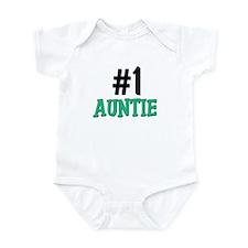 Number 1 AUNTIE Infant Bodysuit