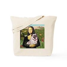 Mona's Fawn Pug (#2) Tote Bag