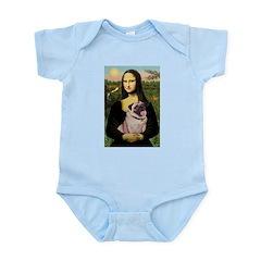 Mona's Fawn Pug (#2) Infant Bodysuit