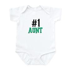 Number 1 AUNT Infant Bodysuit